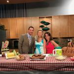 """The Rib Chick Candyce Traci stopped by the WKYC """"Live on Lakeside"""" Studios with lots of great grub that will be featured at this year's Berea's National Rib Cook-Off. Michael and Hollie enjoyed the taste of summertime with Michael digging in before Candyce even had ribs fully unpacked."""