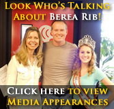 Click here to view a gallery of pics from our media appearances leading up to the 2013 Berea's National Rib Cook-Off